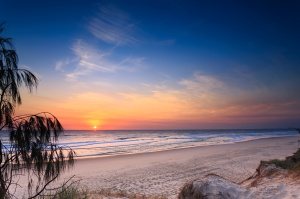 Main Beach at sunrise  (Main Beach, Queensland, Australia)
