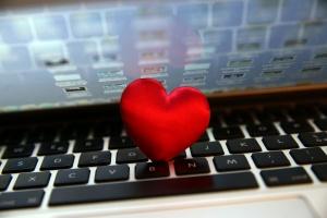 san Valentino sul portatile